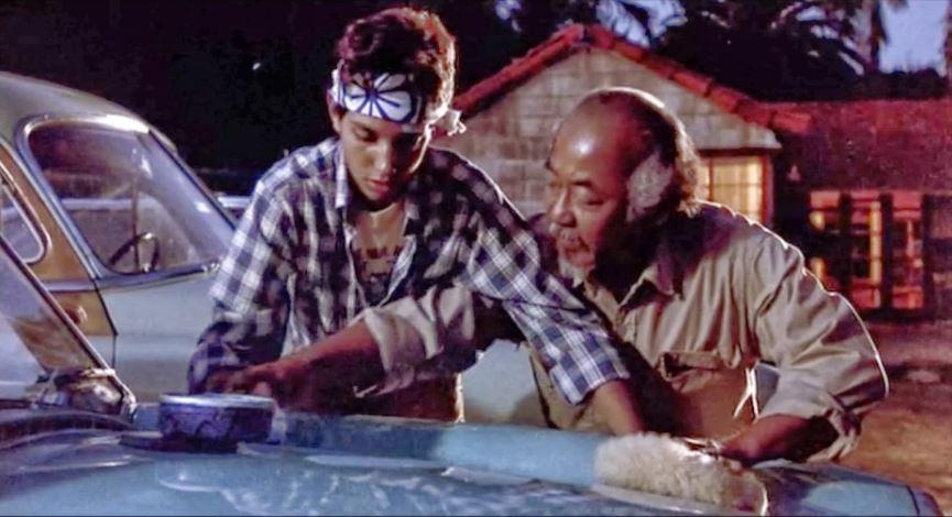 Mr Miyagi, wax on wax off